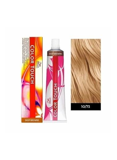 Wella Color Touch Saç Boyası 10/73 Çok Açık Kahve Altın Sarı 60Ml Renksiz